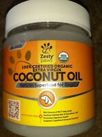 Zesty Paws Coconut Oil for Dogs, Certified Organic extra Virgin, exp. 09/20