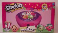 Shopkins Portable Boombox CD Player FM/AM Radio Kids Children's Music Player
