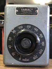 vintage General Radio Variac W20HM Variable Autotransformer 230v range