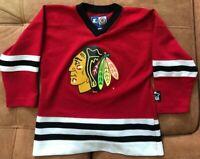 Authentic Chicago Blackhawks Red Starter NHL Hockey Jersey Size Youth Medium