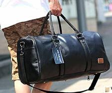 Black Leather Carry On - Weekender Bag