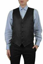 Dolce & Gabbana Men's Wool Silk Black Five Button Vest US 38 IT 48