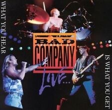 Bad Company The Best of Live What You Hear Is What You Get CD Album VGC