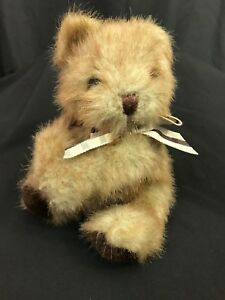 Russ Berrie  Teddy Bear Picadilly Plush with Bow Hands Clasped 6-1/2' #774