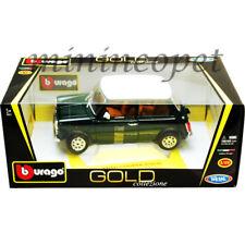 Bburago 18-12036 1969 MINI COOPER 1/18 DIECAST GREEN with WHITE TOP