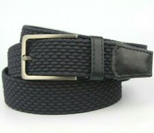 "Dark Blue Purple Braided Woven Canvas Textile Belt Fits 32""-40"" Waist (120cm)"