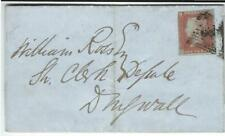 GREAT BRITAIN QUEEN VICTORIA 1d RED INP. 1849 to DINGWALL COVER