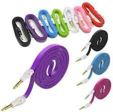 1PC 3.5 mm Male to Male Flat Audio Stereo Aux Cable Cord For PC iPhone iPod MP3