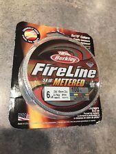 Berkley FireLine Metered 6-100 Fishing Line Marked 6lb 100 Yards Spool New