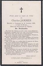 § Memento de Charles JAMMES, négociant, Toulouse (Haute-Garonne) 1889 §