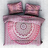 Ombre Mandala Duvet Cover King/Queen Indian Quilt Cover Cotton Comforter Pillow
