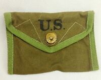 WWII WW2 US ARMY FIRST AID POUCH 1943 BAG FIRST-AID PACKET