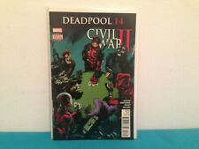 Deadpool # 14 Civil war II  comic book