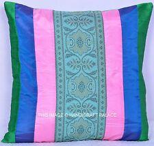 "Indian Decorative Vintage Brocade Silk Pillow Cushion Cover Handmade Decor 16"""