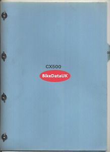 Honda CX500 (1978 >>) Genuine Dealers PDI Set-Up Instructions Manual CX 500 DT59