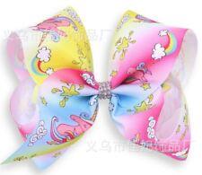 Unicorn Style 2  Hair Bows Girls Diamante Hair Clip Accessories 20cm TST55