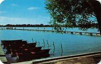 Postcard Limberlost Camp Oliver Lake Lagrange Indiana