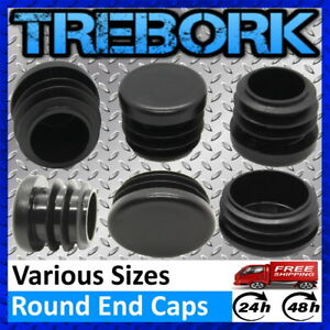Round Plastic Tubes End Cap Bungs Blanking Plugs Pipe Inserts Table Feet Chair