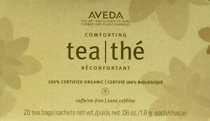 Aveda Comforting Herbal Tisane 20 Tea Bags SEALED .06 Oz Each 100% Organic