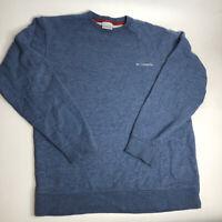 Columbia Fleece Lined Pullover Sweatshirt Mens Size Medium Long Sleeve Crew Neck