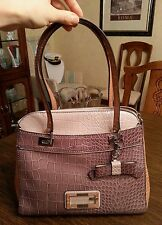 GUESS Dorsay satchel, color taupe multi