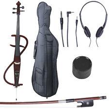4/4 Electric Cello Full Size Ebony Style 3 ~Mahogany