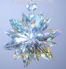 m/w Swarovski Lg. Ab + Clear Lily Octagons Star SunCatcher Lilli Heart Designs