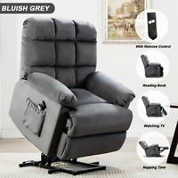 Power Lift Recliner Chair Living Room Sofa For Elderly Padded Armrest W/RC