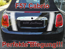 Streifen Boot Stripes Aufkleber Heckklappe f. BMW MINI COOPER F57 One Works Jack