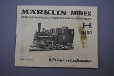 Märklin Anleitung / Bedienung / Wartungsanleitung für Minex 3400  ( S 371 )