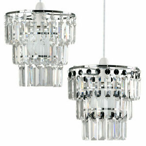 Modern Chandelier Light Shades 3 Tier Acrylic Crystal Ceiling Pendant Lamp Shade