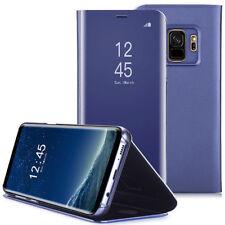 Samsung Galaxy S8 S9 Plus Schutz Hülle Clear View Cover Flip Case Tasche Bumper