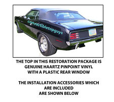 """DODGE CHALLENGER & PLYMOUTH  BARRACUDA CONVERTIBLE TOP """"DIY"""" PACKAGE 1970-71"""