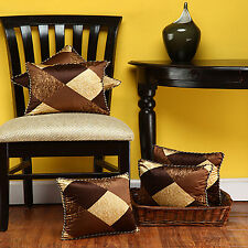 Dream Decor Pack Of 5 Cushion Covers - check brown
