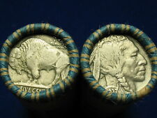 @ Nice Shotgun Roll Full Of Buffalo Nickel Five Cent Pieces Old Lot 1913-1938 @