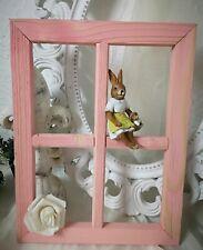 Fenster Deko Fensterrahmen Sprossenfenster Rosa Holz Shabby Vintage Landhaus 37