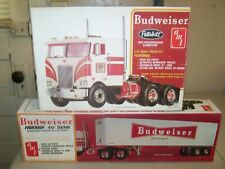 AMT BUDWEISER TRUCK & TRAILER OPEN BOXES BOTH COMPLETE