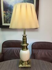 Vintage Heavy Stiffel Oriental Ostrich Egg Shape Porcelain Brass Table Lamp