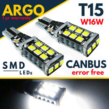 T15 Led Car Bulbs W16w Xenon White Canbus Error Free 921 Reverse Parking Light