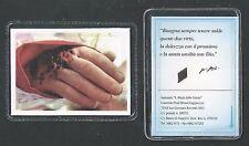 Hoy card relics reliquia Padre Pio estampa santino  image pieuse
