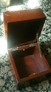 Vintage ships marine chronometer mounting wooden box