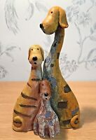 Rustic Dog Jigsaw Ornament ~ Family of Dogs (E)