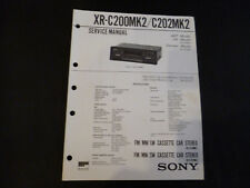 ORIGINALI service manual Sony xr-c200mk2/c202mk2