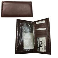 CB 02-BK Womens black wallet Checkbook leather wallet