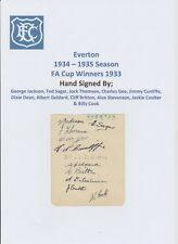 EVERTON 1934-1935 VERY RARE ORIGINAL HAND SIGNED BOOK PAGE 11 X SIGNATURES