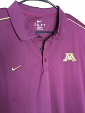 Nike Dri-Fit Minnesota Golden Gophers Polo Golf Shirt Mens Xxl Euc