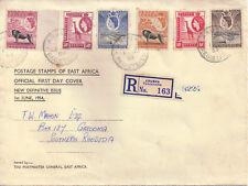 KUT 1954 Definitives FDC ARUSHA 1 Jun 54 GATOOMA 5 Jun 1954 back cansel