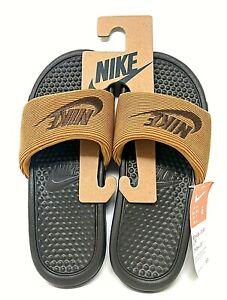 NIKE Benassi JDI SE LTR Slides Sandals Baroque Brown CK0644 200 Men's Size 6