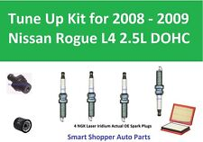 Spark Plugs, Oil Filter, Air Filter, PCV Tune Up For 2008 2009 Nissan Rogue L4