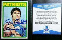1972 Topps #65 Jim Plunkett BAS COA Beckett Signed Autograph Rookie Card RARE B